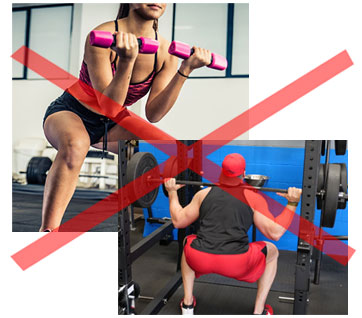 squatting - Unlock Your Glutes – Conversion Monster!